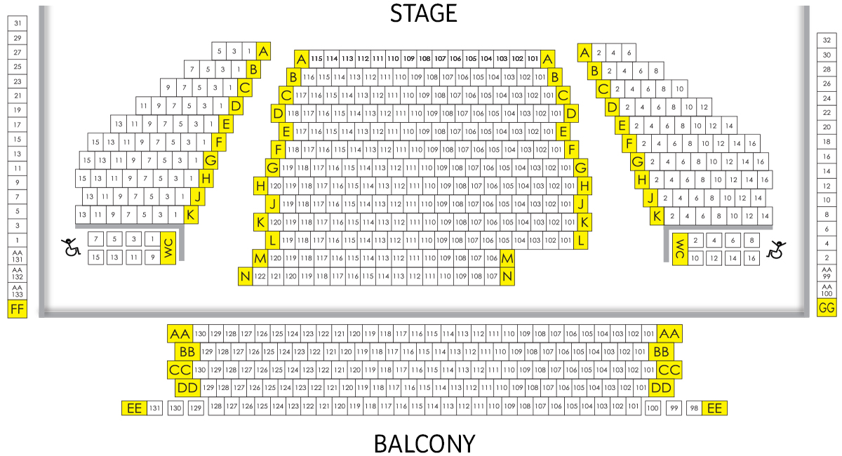 Numerica Performing Arts Center  Seating Chart